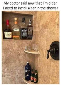 Install a bar in the shower