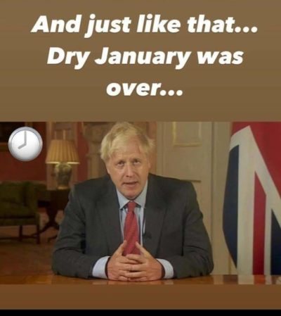 Boris talks to the nation! 🍷