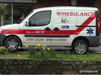 Emergency services during Dry January! 🍷